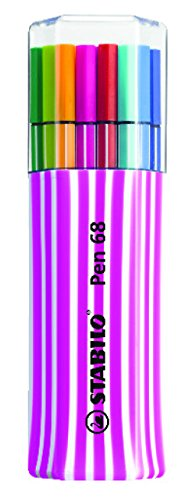 (STABILO Pen 68 Single Pack of 15 pink Premium Felt-Tip Pen)