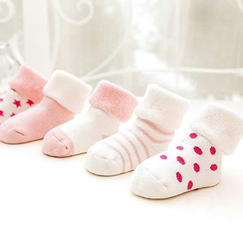 Bambini e Neonati Confezione da 5 Paia Z-Chen Calzini in Cotone Inverno