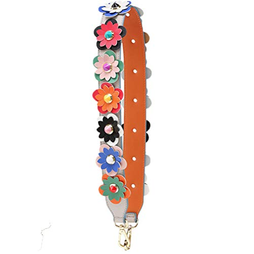 Rivet Strap - Donalworld Wide Flower Strap Replacement Rivet PU Leather Handbag Strap S E