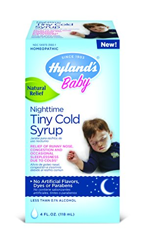 Tiny Nose (Hyland's Baby Nighttime Cold Syrup, Natural Relief of Runny Nose, Congestion, and Sleeplessness, 4)