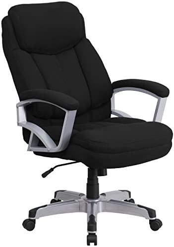Flash Furniture HERCULES Series Big Tall 500 lb. Rated Black Fabric Executive Swivel Ergonomic Office Chair