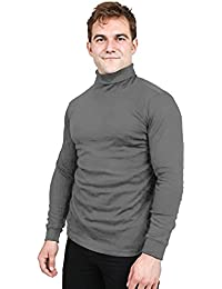 Special Comfort Fit Turtleneck Shirt - Premium Cotton Blend Interlock Fabric - Long Sleeves - Machine Washable...