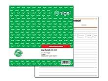 "sigel Formularbuch ""Kurzbrief"", 2/3 A4, 50 Blatt, SD / CFB"