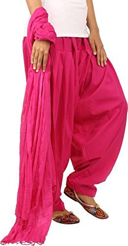 UNIQUE GALAXY Solid Quality Patiala Salwar with Dupatta(free size, 41 inches)