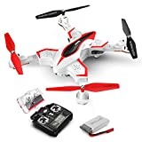 Foldable Drone, SYMA X56W RC Quadcopter with Camera, 2.4GHz 6-Axis Gyro, WiFi FPV Live Video, Altitude Hold, Headless Mode, One Key Start, Easy to Fly for Beginners, Kids, White