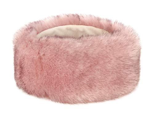 Futrzane Winter Faux Fur Headband for Women and Girls (Siberian Pink) ()