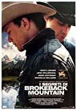 Brokeback Mountain Italian Huge Film PAPER POSTER measures approximately 100x70 cm Greatest Films Collection Directed by Ang Lee. Starring Heath Ledger, Jake Gyllenhaal, Randy Quaid.