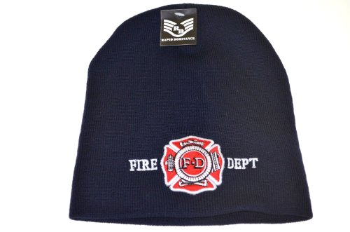 Fire Department Work Knit Beanie (Dept Fire Embroidery)