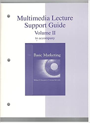 Multimedia lecture support guide to accompany basic marketing a multimedia lecture support guide to accompany basic marketing a global managerial approach 14th edition volume 2 william d perreault jr publicscrutiny Choice Image