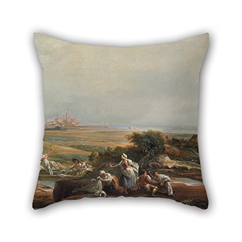 [The Oil Painting Luis Paret - View Of Fuenterrabía (fragment) Pillow Cases Of ,20 X 20 Inches / 50 By 50 Cm Decoration,gift For Him,coffee House,living Room,car,saloon,floor (2] (Thomas The Train Costume Walmart)