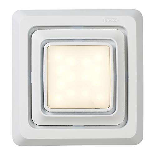 Broan-NuTone FG600S LED Lighted Grille Upgrade for Bathroom Ventilation Fans, White
