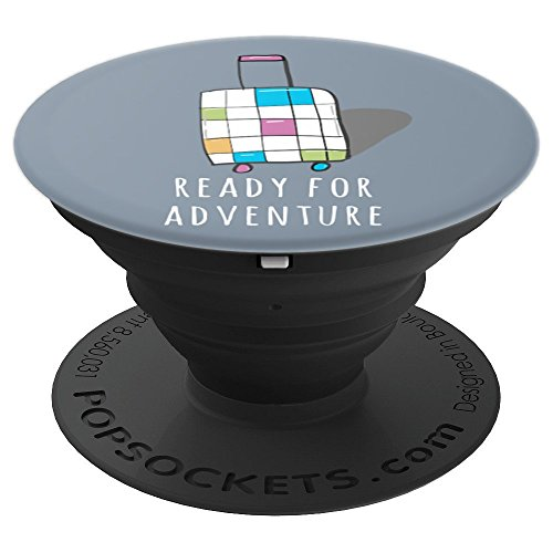 Ready for Adventure Travel Carry-On Colorful Suitcase - PopSockets Grip and Stand for Phones and Tablets