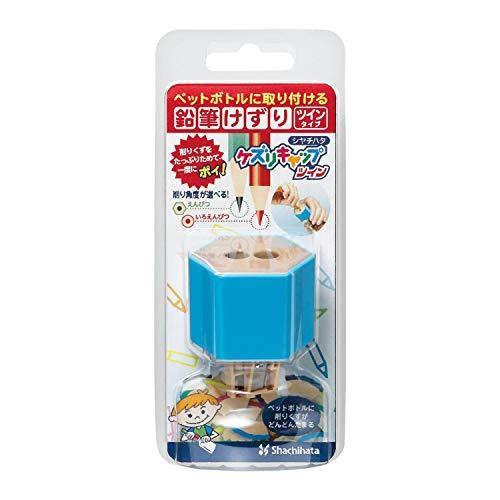Midori Shachihata Twin Pencil Sharpener Kezuri Cap, Blue (ZKC-W1/H) ()