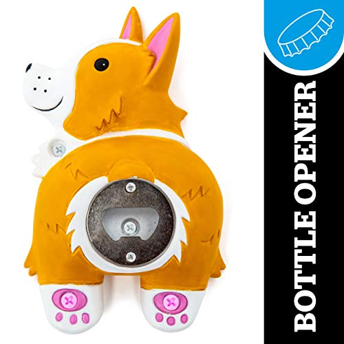 BigMouth Inc. Corgi Butt Bottle Opener - Hilarious Wall Mounted Bottle Opener, Fun Home Bar Accessories - Makes a Great Gift Idea