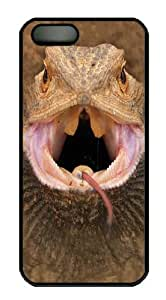 Big Face Bearded Dragon Polycarbonate Hard Case Cover for iPhone 5/5S Black