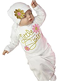 Newborn Infant Girls Take Home outfit Girl Gift Clothes Set Baby Gown