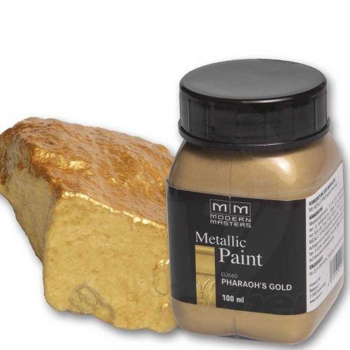 Pharaos Gold Metallic Paint 100ml Modern Masters Metalleffektfarbe Metallfarbe