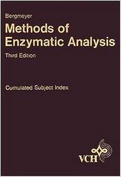 Methods of Enzymatic Analysis: Cummulative Subject Index v. 12 (Bergmeyer Methods of Enzymatic Analysis)