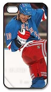LZHCASE Personalized Protective Case for iphone 4 - NHL Columbus Blue Jackets #10 Marian Gaborik