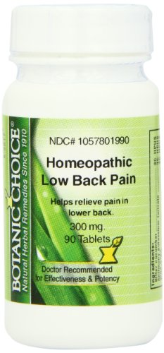 Botanic Choice Homeopathic Low Back Pain Formula, 90 Count (Pack of 2)