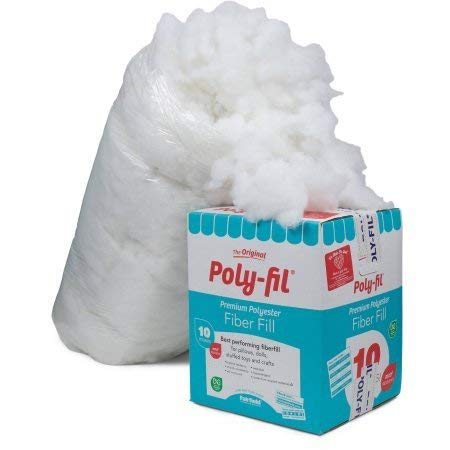 Fairfield 10-Pound Poly-Fil Premium Polyester Fiber, White | Smooth Consistency (10-Pound) (10-Pound) ()