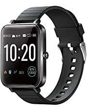 """YIRSUR Smart Watch for Android Phones & iPhones, Always-on 1.5"""" Large Screen, IP68 Waterproof Fitness Tracker Heart Rate Recorder Step Counter and Sleep Monitor, Sync Message for Men & Women (Black)"""