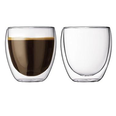 Bodum Pavina 8.5-Ounce Double-Wall Thermo Tumber/DOF Glass, Set of 2