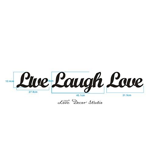 Love Decor Studio _ 1968 Wooden Letters Art 3D Cutout 'Live, Laugh, Love' Set Products (13.4cmX45.1cmX1.5cm)