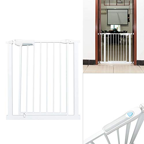 Dog Fence,Indoor Free Punch Guardrail Doorway Entryway Rail Portable Baby Gate for Front Door Garden Patio Backyard Outdoor (Portable Vinyl Fencing)