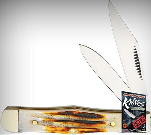 Frost Cutlery FMBS085SC Coke Bottle Folding Limited Elite Knife Second Cut Bone Handle Folder + free eBook by ProTactical'US ()