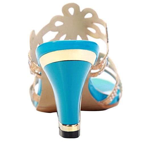 Blau AIYOUMEI sulla Caviglia Donna Aperte UR6nqRpH