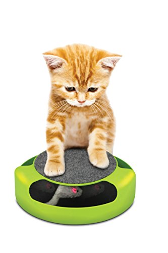 KITTY CAT MOUSE FRENZY CHASE GAME WITH SCRATCH PAD - PINK