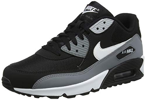 Nike Mens Air Max 90 Essential Running Shoes Black/White/Cool Grey/Anthracite AJ1285-018 Size 8 (Nike Air Max 90 Leather Black Grey)