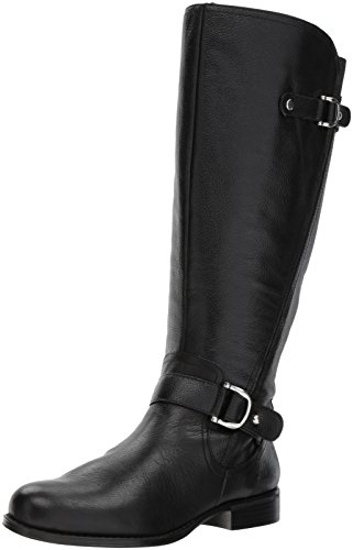 Naturalizer Women's Jenelle Wc Riding Boot, Black, 7.5 M US by Naturalizer