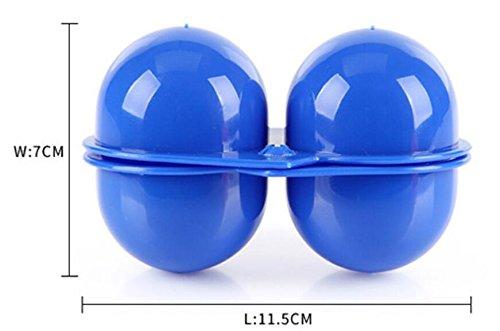 HSDDA 1 St/ück Tragbare Eier Aufbewahrungsbox 2 Eier Klapp Eier Tragetasche Box f/ür Picknick-Container