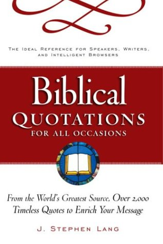 Biblical Quotations for All Occasions: Amazon.es: Lang