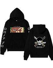 Vocha One Piece Hoodie Roronoa Zoro Pullover Anime Clothes Sweatshirt Cosplay