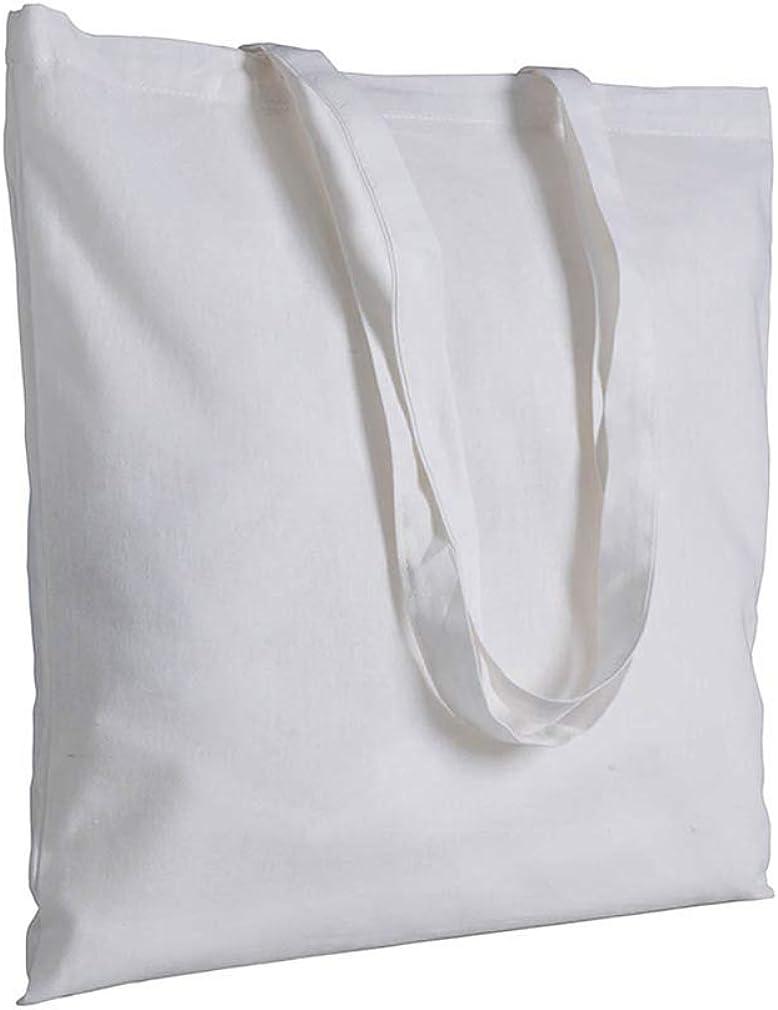 120 g//m2 la clessidra 10 pezzi Shopper in cotone naturale manici lunghi manici lunghi 10 colori dieci