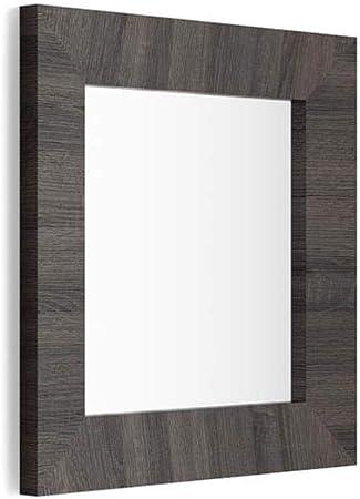 Nobilitato//Vetro Disponibile in Vari Colori Specchiera Quadrata Mobili Fiver Giuditta 65x65 Made in Italy Cornice Bianco Frassino