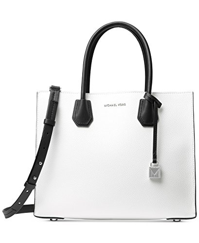 MICHAEL Michael Kors Women's Mercer Tote (Optic White/Pearl Grey/Black) by Michael Kors