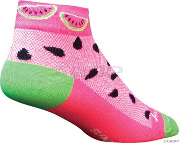 SockGuy Watermelon Socks : Pink; SM/MD
