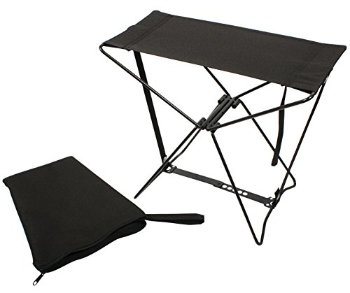 Folding Chair Black Military Tactical Lightweight Camp