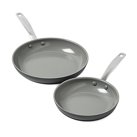 GreenPan Chatham 2-Piece Frying Pan Set (8 Inch Stone Earth Pan)