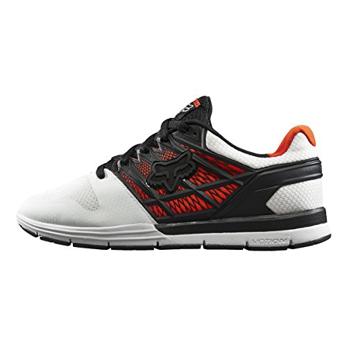 Fox Racing Mens Motion Elite 2 Shoes Footwear, White/Red, (Fox Racing Leather)