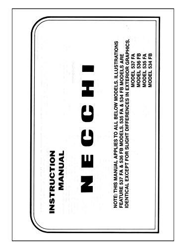 Necchi 537FA 536FB 535FA 534FB Sewing Machine Owners Instruction Manual