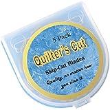 Quilter's Cut Rotary Blades Crochet Edge, 5 Pack, Fits Olfa, Fiskars, Martelli, & Truecut