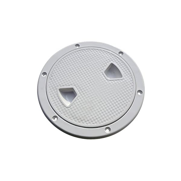 """5/"""" Marine Screw Out Deck Plate Inspection Hatch Plastic Access for Boat"""
