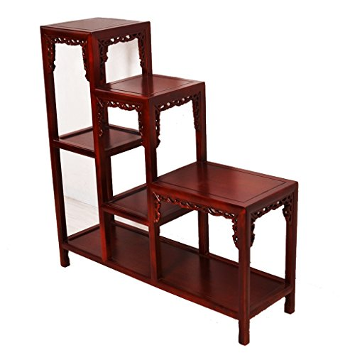 The Prime  Three-Piece Flower Stand Solid Wood Living Room D