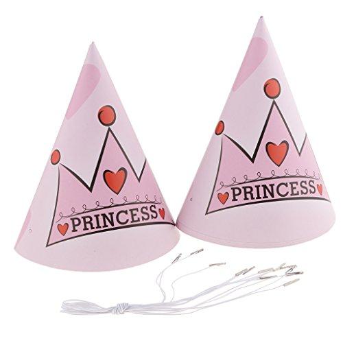 Fenteer Fenteer Princesse Princesse Princesse Couronne Joyeux Anniversaire Fête Soirée Partie Accessoire Complets - 90 Pièces 1a2aa4
