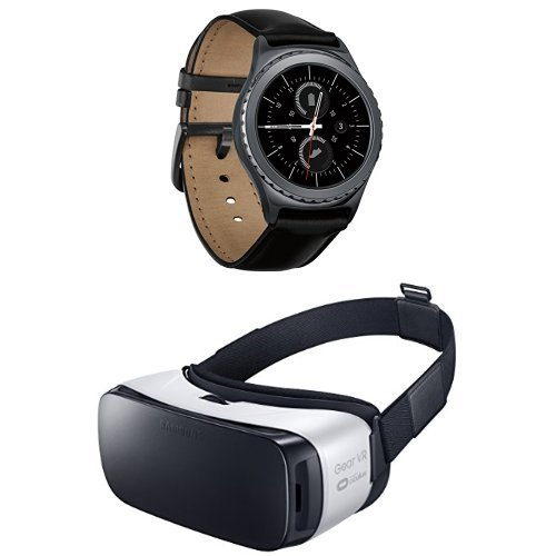 Price comparison product image Samsung Gear S2 Smartwatch - Classic and Samsung Gear VR Bundle